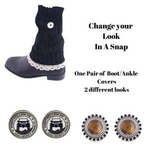 1 pair of Boot/Ankle Covers with 4 Snap Buttons